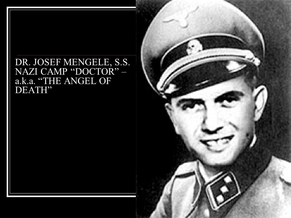 describing auschwitz camp as the angel of death Even though adolf hitler was synonymous with death and destruction, there is no doubt that josef mengele was the nazi angel of death for the atrocities he committed image credits: (1) wikipedia .
