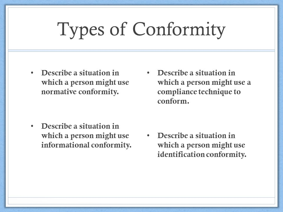 COMPLIANCE AND CONFORMITY