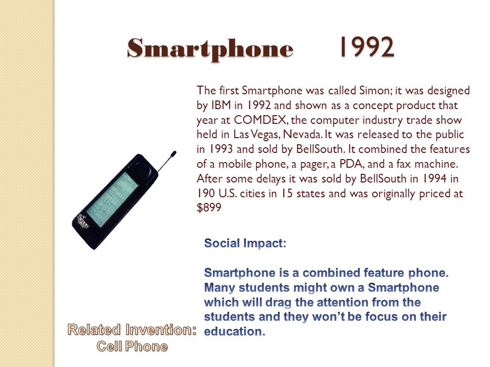 when smartphone invented