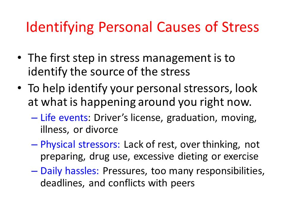 what is stress identifying the causes He later demonstrated that persistent stress could cause these animals to develop various diseases similar to those seen in humans, such as heart attacks.