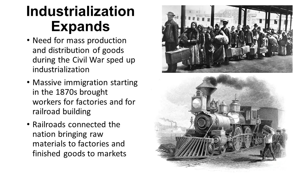 civil war and industrialization Was the american civil war fought over industrialization or slavery like with most conflicts, addressing the causes of the civil war is complicated one can easily imagine a question in a university-level history course: list five causes of the c.
