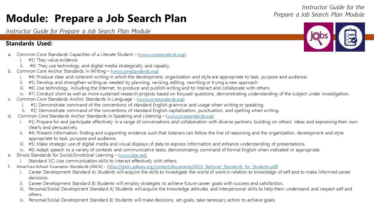 Job Search Organizer S.M.A.R.T. Plan Employment 101 Instructor ...