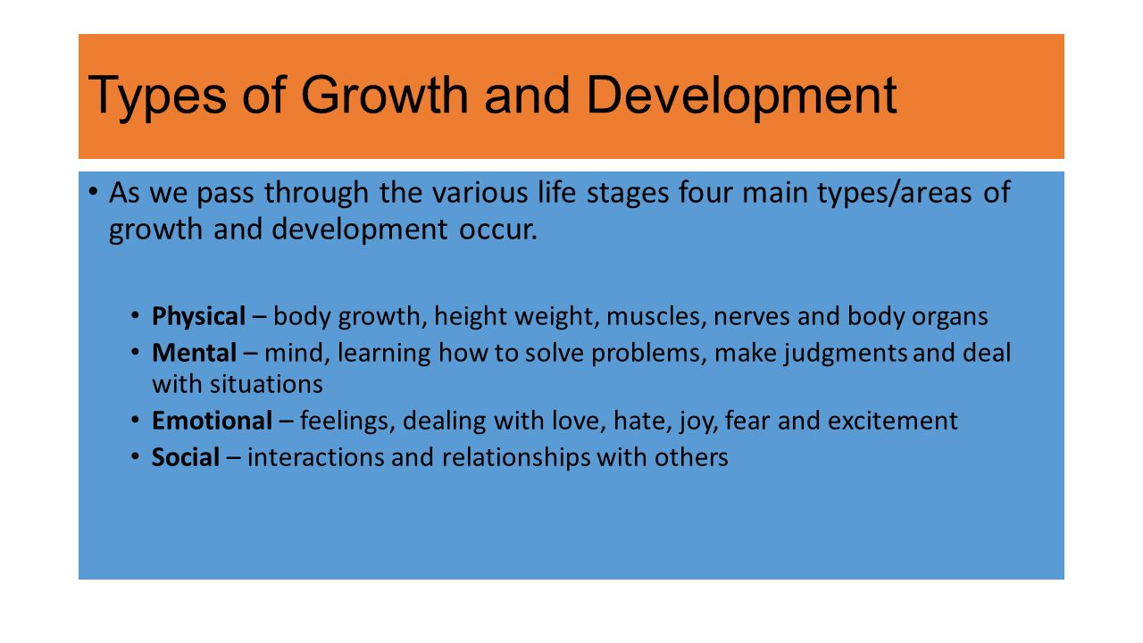 human life span and growth development