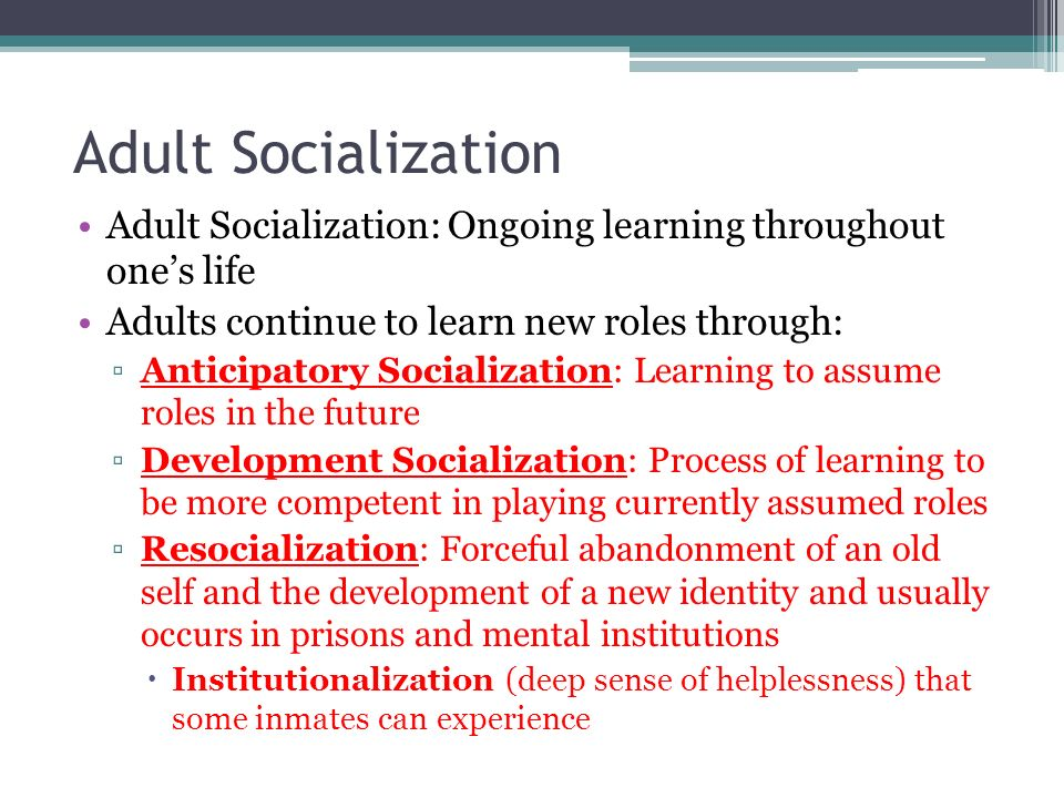 socialization is a lifelong process of Principles of sociology/socialization  political scientists and educationalists to refer to the lifelong process of inheriting and disseminating norms,.