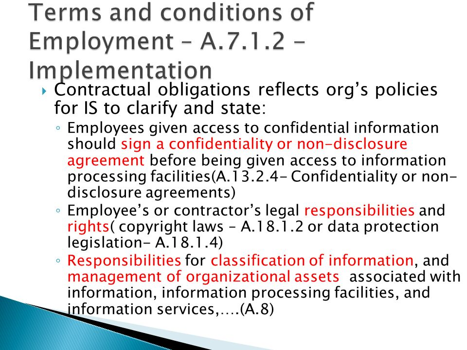 human resource security iso