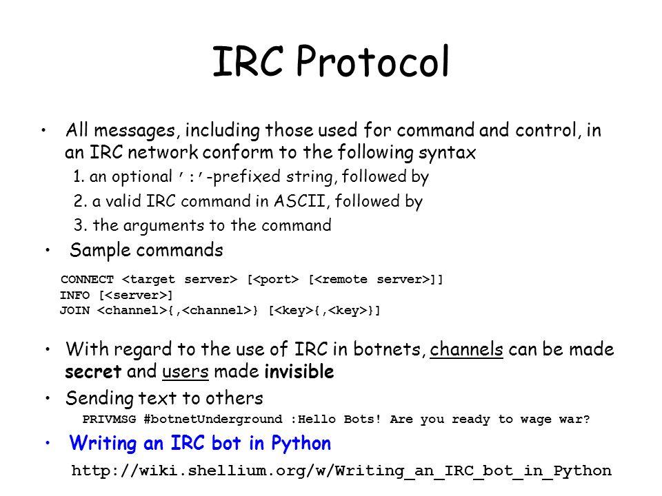 Writing irc bot in python