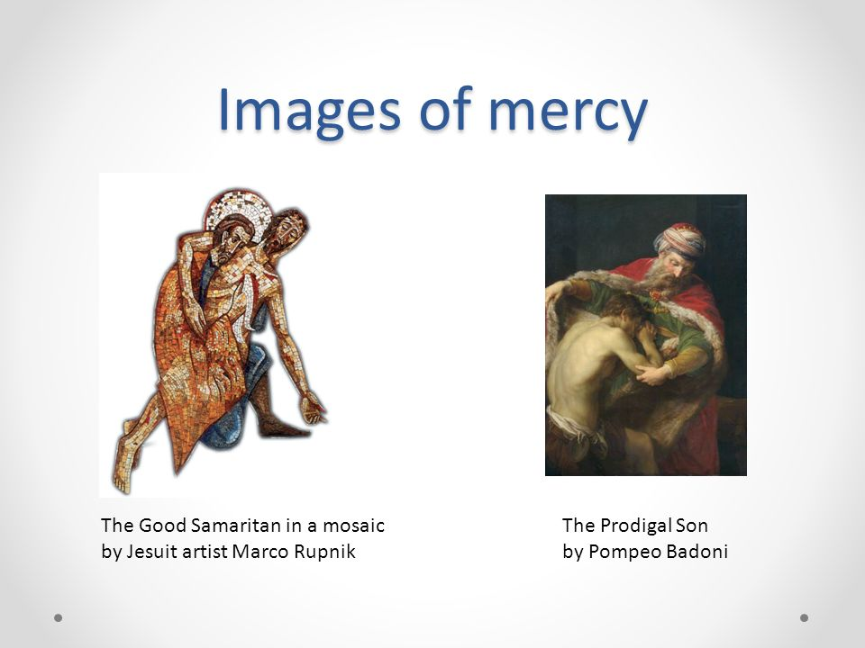 Images of mercy The Good Samaritan in a mosaic