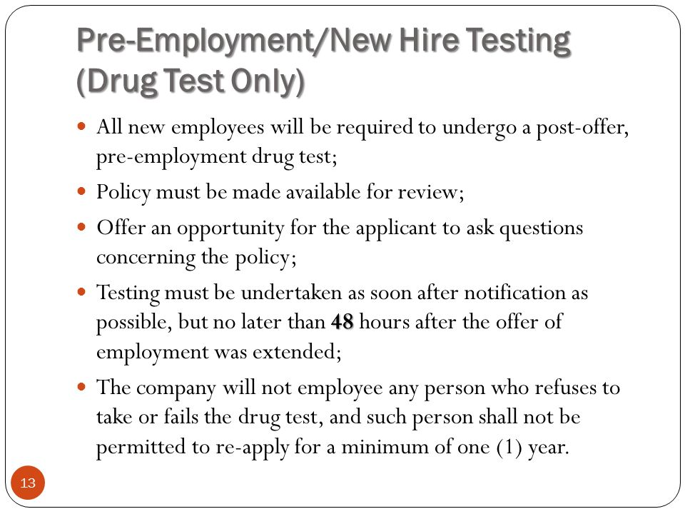 pre employment testing and screening How can the answer be improved.