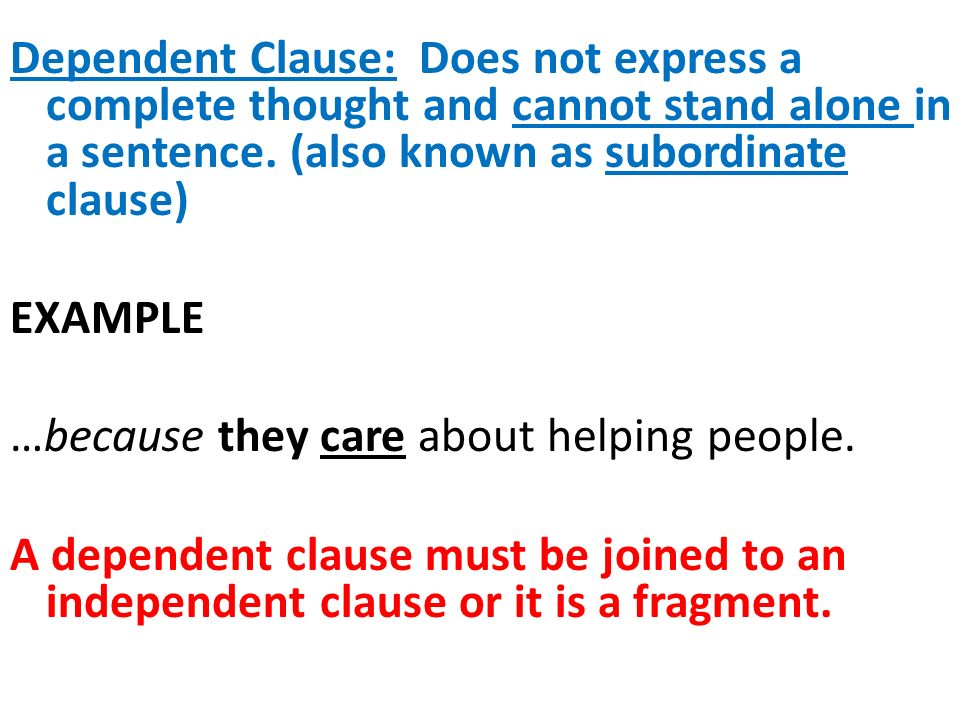 how to find subordinate clause