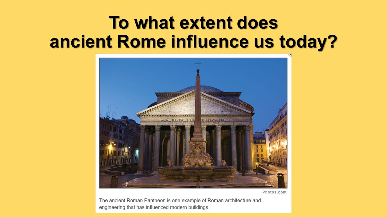 greek and roman influances on modern
