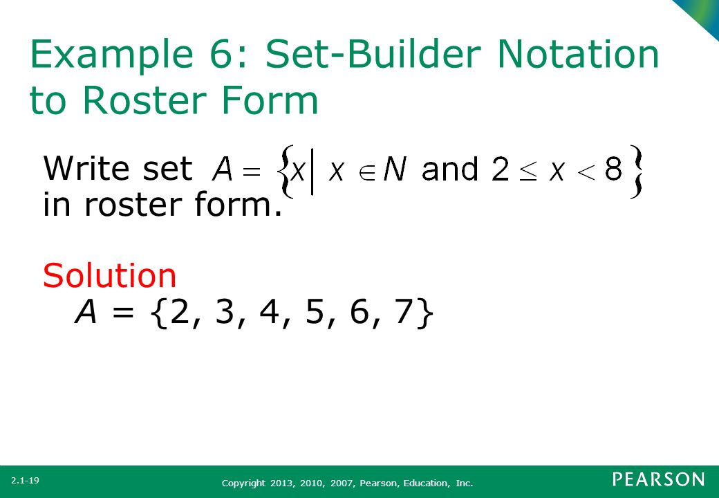 Section 2 1 set concepts ppt video online download for Find a builder