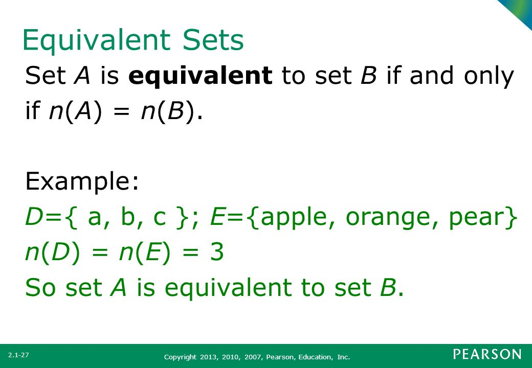 Section 2.1 Set Concepts. - ppt video online download