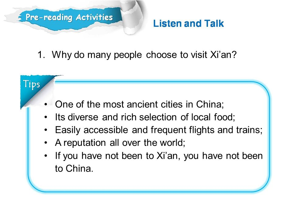 Why do many people choose to visit Xi'an