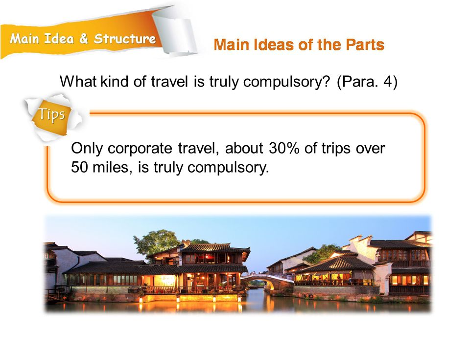 What kind of travel is truly compulsory (Para. 4)