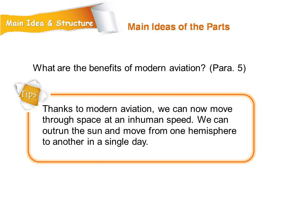 What are the benefits of modern aviation (Para. 5)