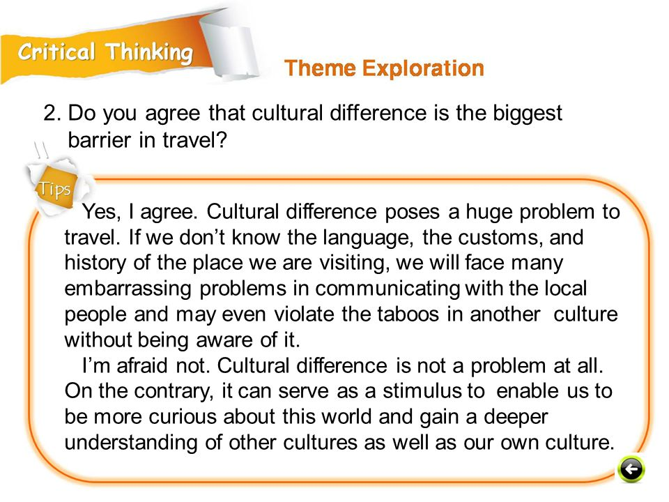 2. Do you agree that cultural difference is the biggest