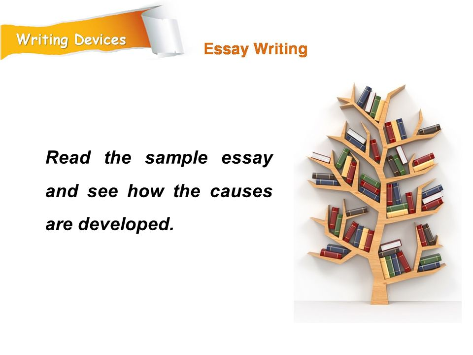 Read the sample essay and see how the causes are developed.