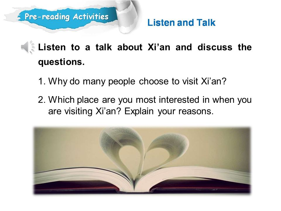 1. Why do many people choose to visit Xi'an