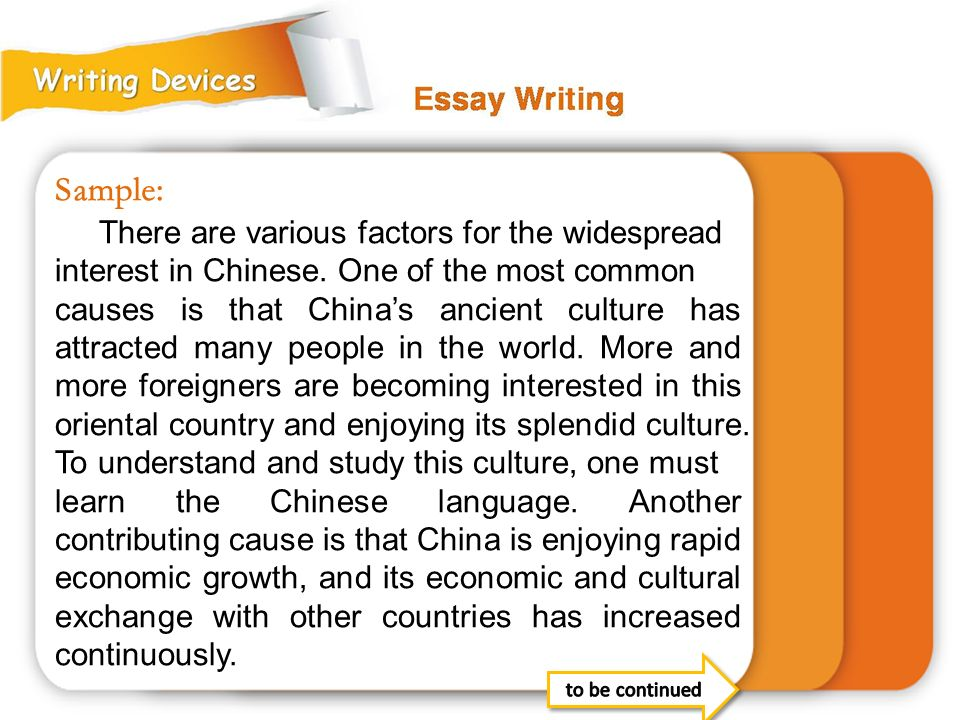 Sample: There are various factors for the widespread