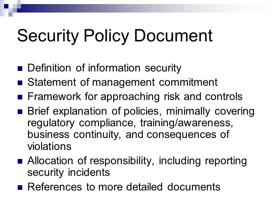 information security policy development for compliance pdf