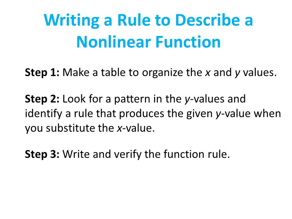 how to make a table of values for a function