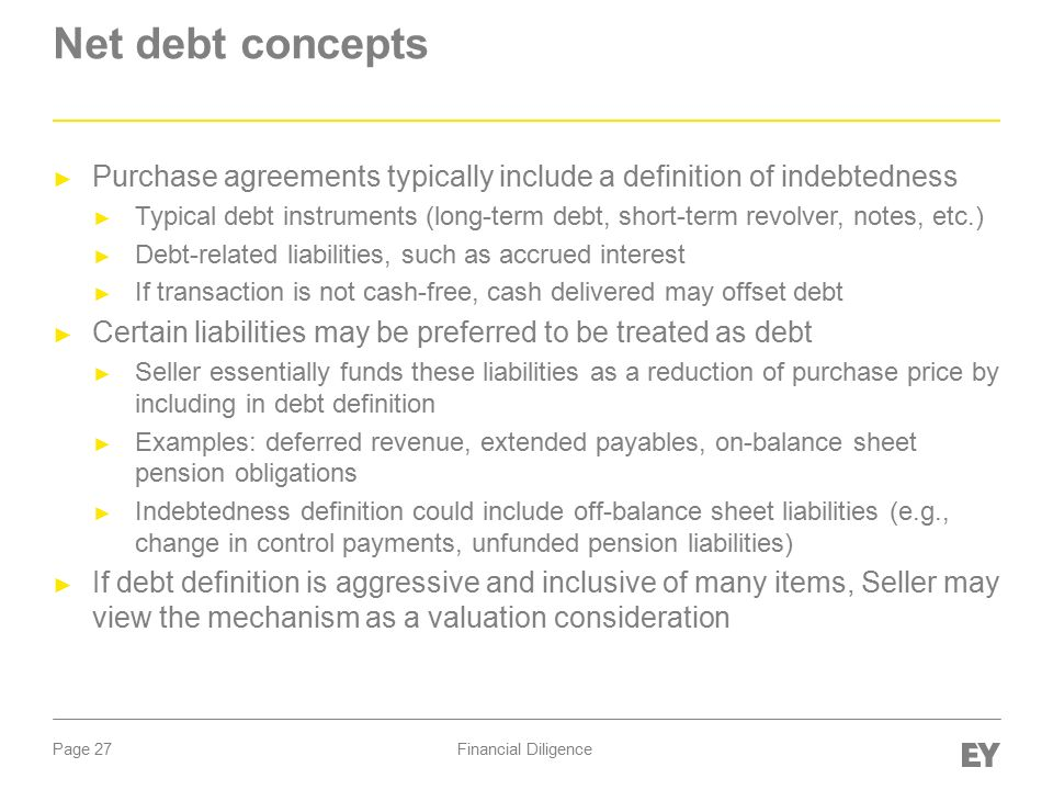 M&A Part I: Deal Structure & Due Diligence Financial Diligence ...