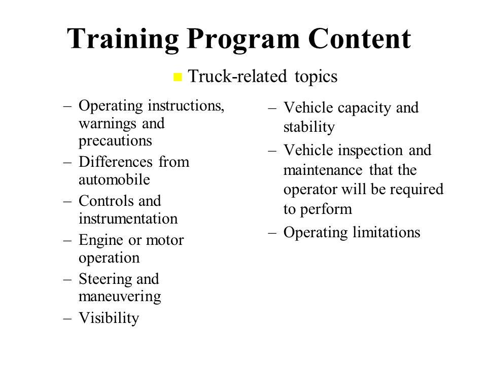 Powered Industrial Trucks Class Iv Operator Training Ppt