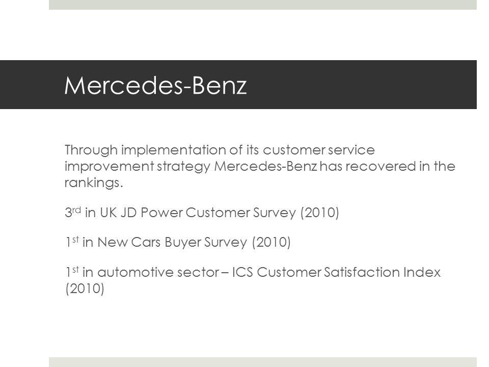 Customer service improvement strategy daniel harrison for Mercedes benz finance customer service
