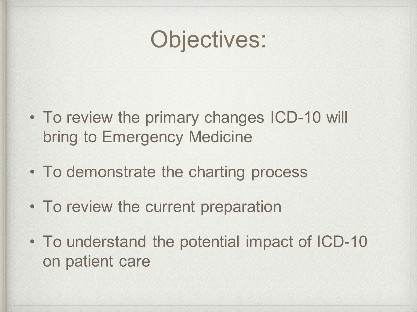 worksheet Icd 10 Practice Worksheets rochester regional health informational management association objectives to review the primary changes icd 10 will bring emergency medicine