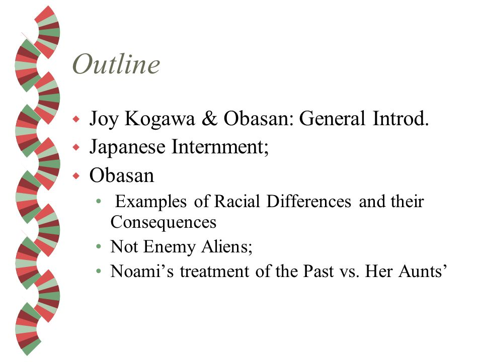an analysis of the novel obasan by joy kogawa Obasan by joy kogawa winner of the american book award based on the author's own experiences, this award-winning novel was the first to tell the story of the evacuation, relocation, and dispersal of canadian citizens of japanese ancestry during the second world war.
