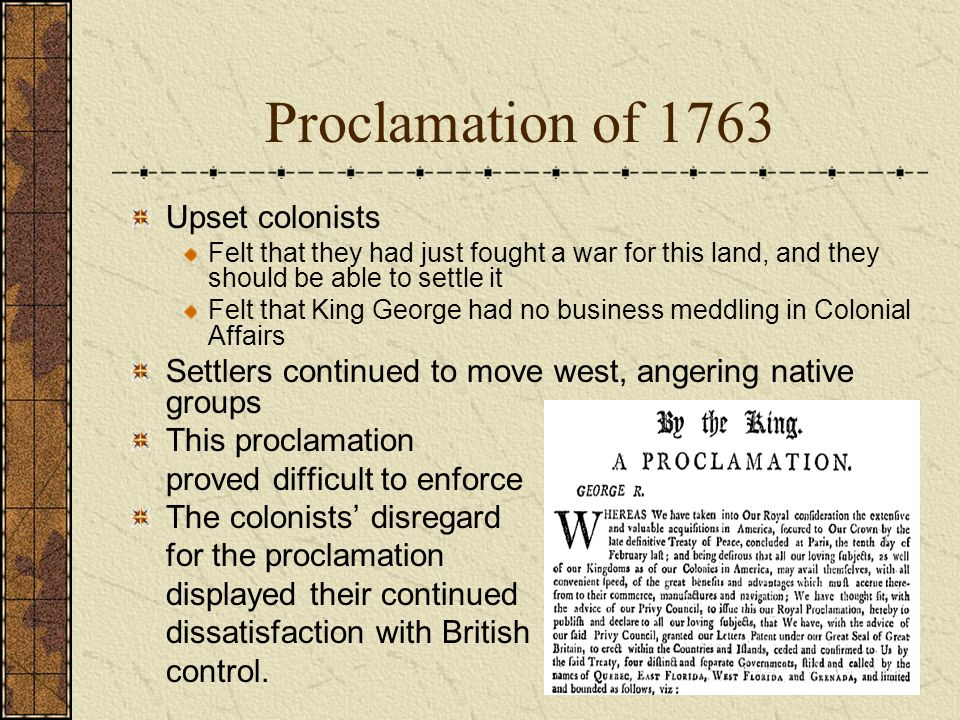essay on proclamation of 1763