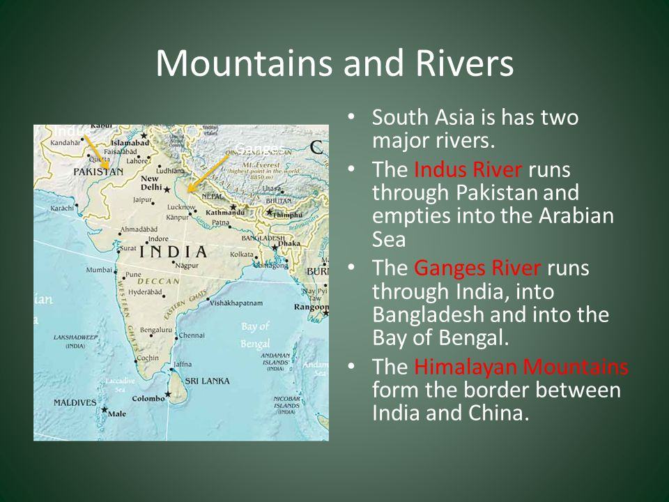 The Physical Geography Of Southern And Eastern Asia Ppt Video - 3 major rivers