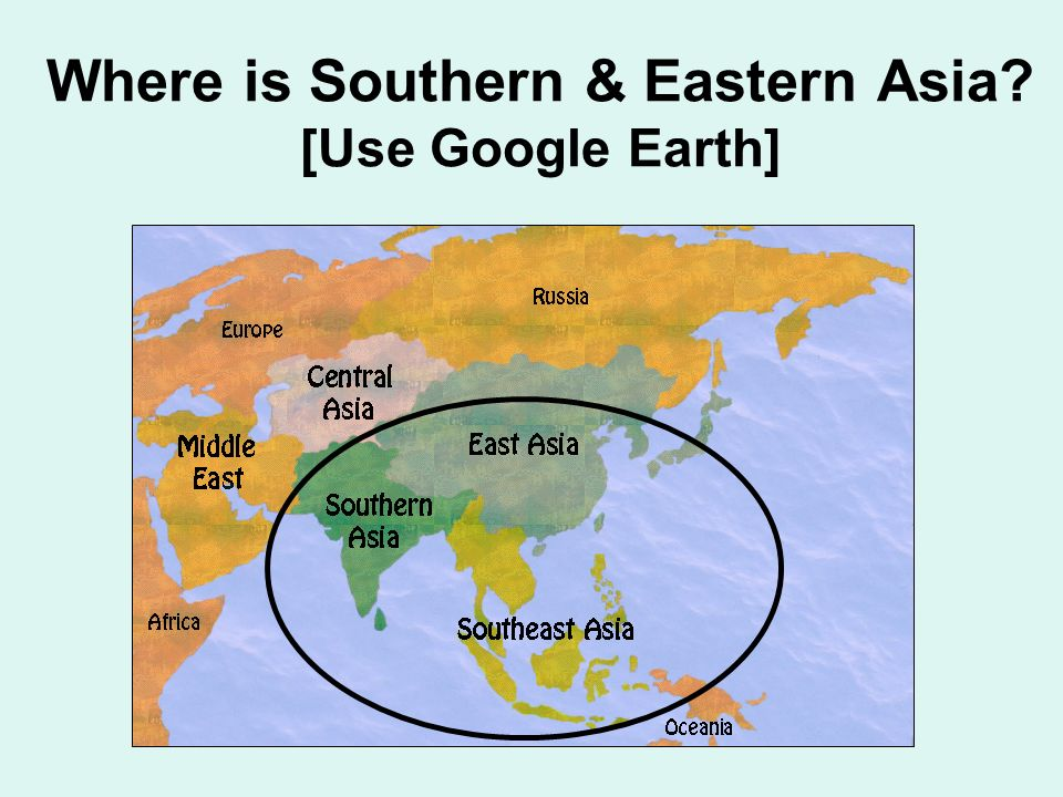 Map Of Southern And Eastern Asia.Map Of S Asia