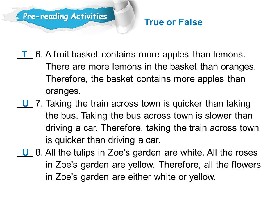 6. A fruit basket contains more apples than lemons.