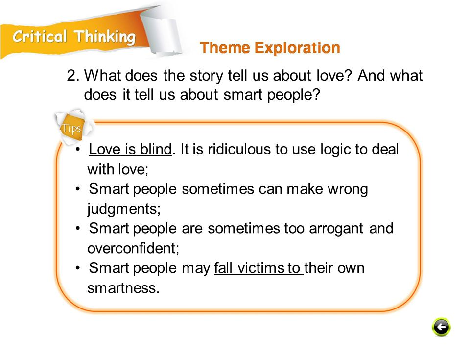 2. What does the story tell us about love And what