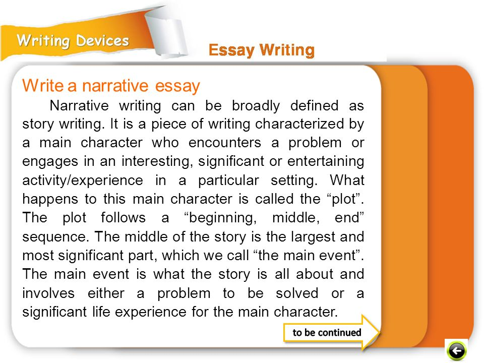 Write a narrative essay