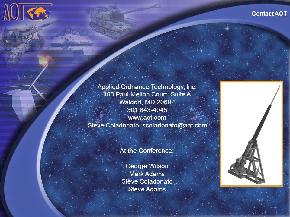 Applied Ordnance Technology, Inc. 103 Paul Mellon Court, Suite A