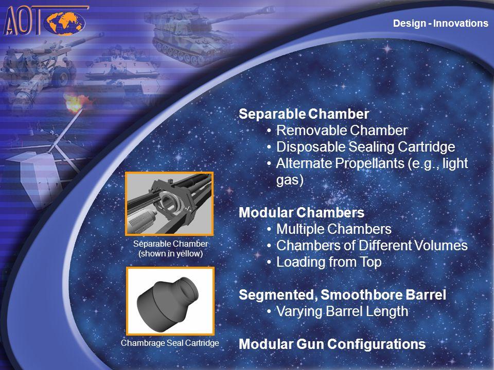 Disposable Sealing Cartridge Alternate Propellants (e.g., light gas)