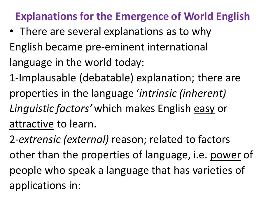 U A BOOK ENGLISH IN THE WORLD CHAPTER FOUR A Global - How many international languages in the world