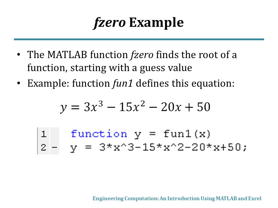 Engineering computation an introduction using matlab and