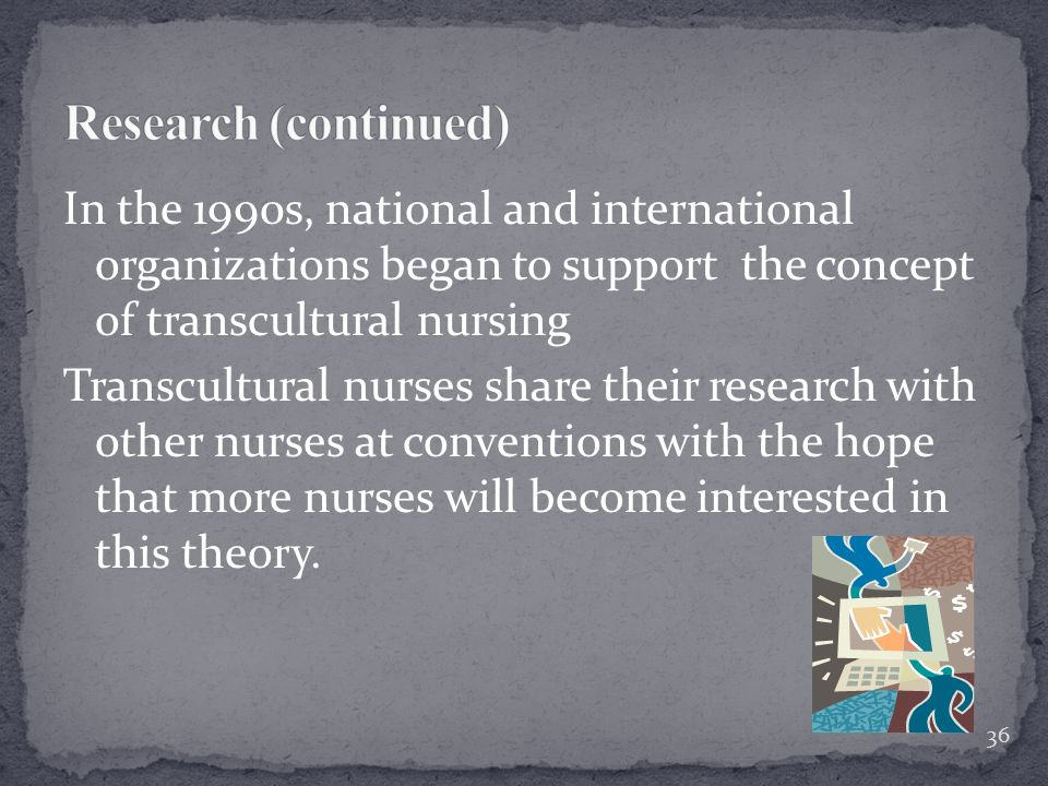 a study of transcultural nursing care Transcultural nursing theory and models tural nursing and health care new fi eld of transcultural nursing study and practice.