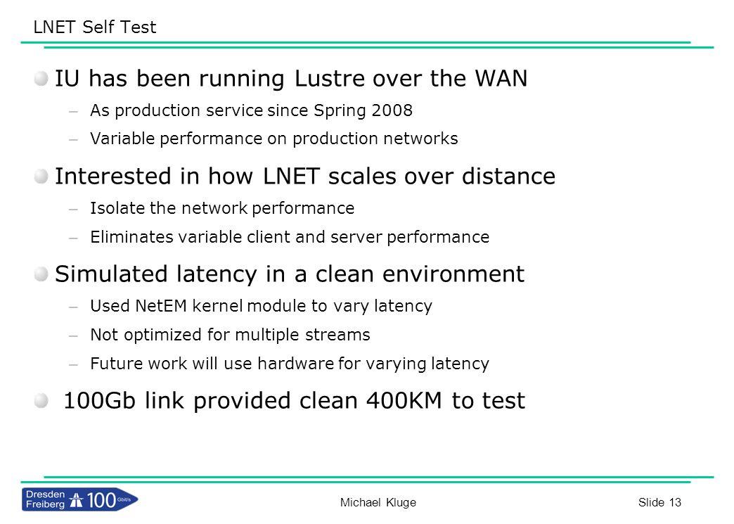 IU has been running Lustre over the WAN