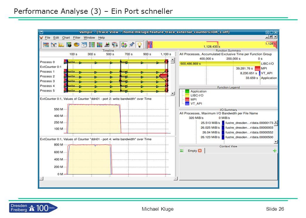Performance Analyse (3) – Ein Port schneller