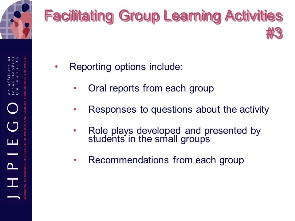 Facilitating Group Learning Activities #3