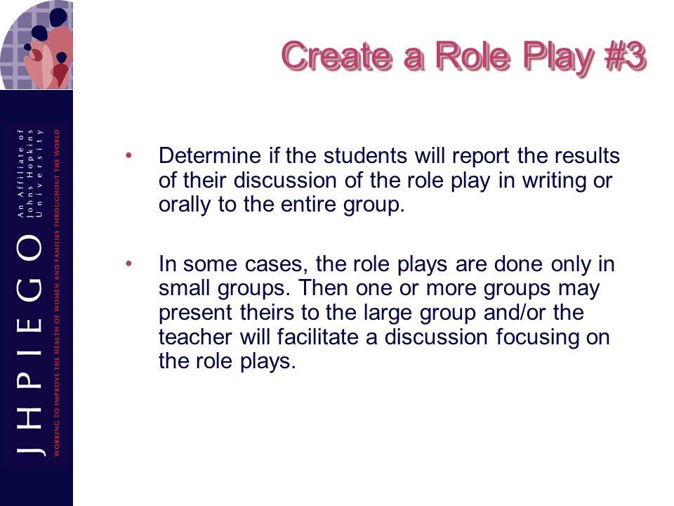 Create a Role Play #3