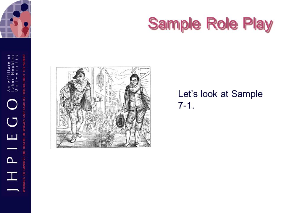Sample Role Play Let's look at Sample 7-1.