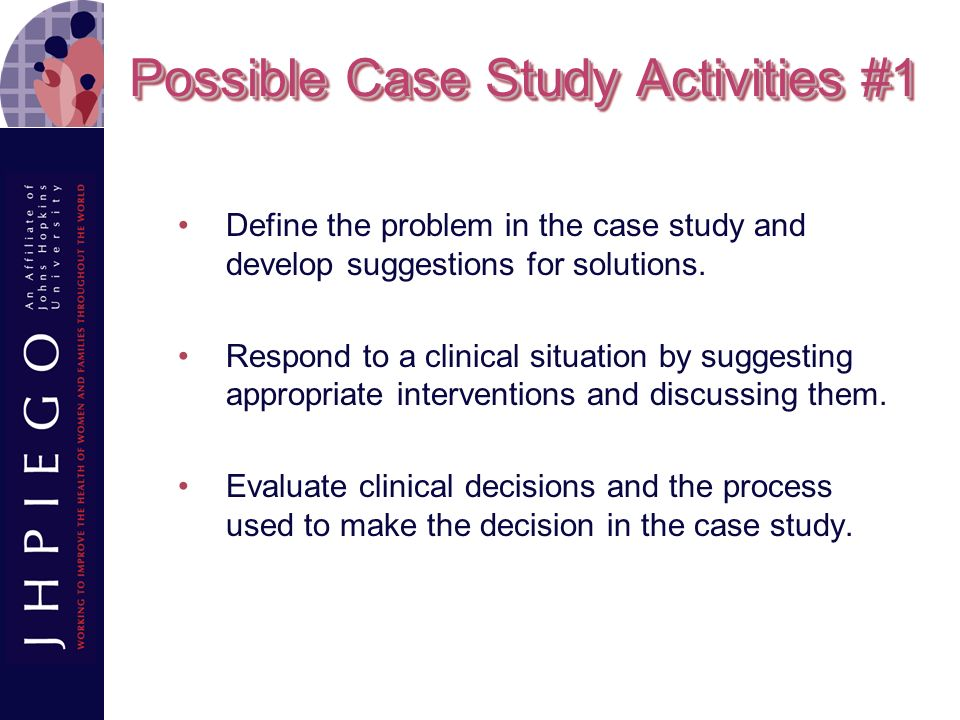 Possible Case Study Activities #1