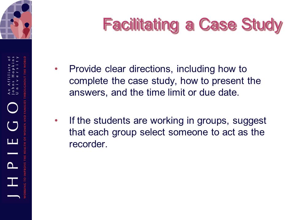 Facilitating a Case Study