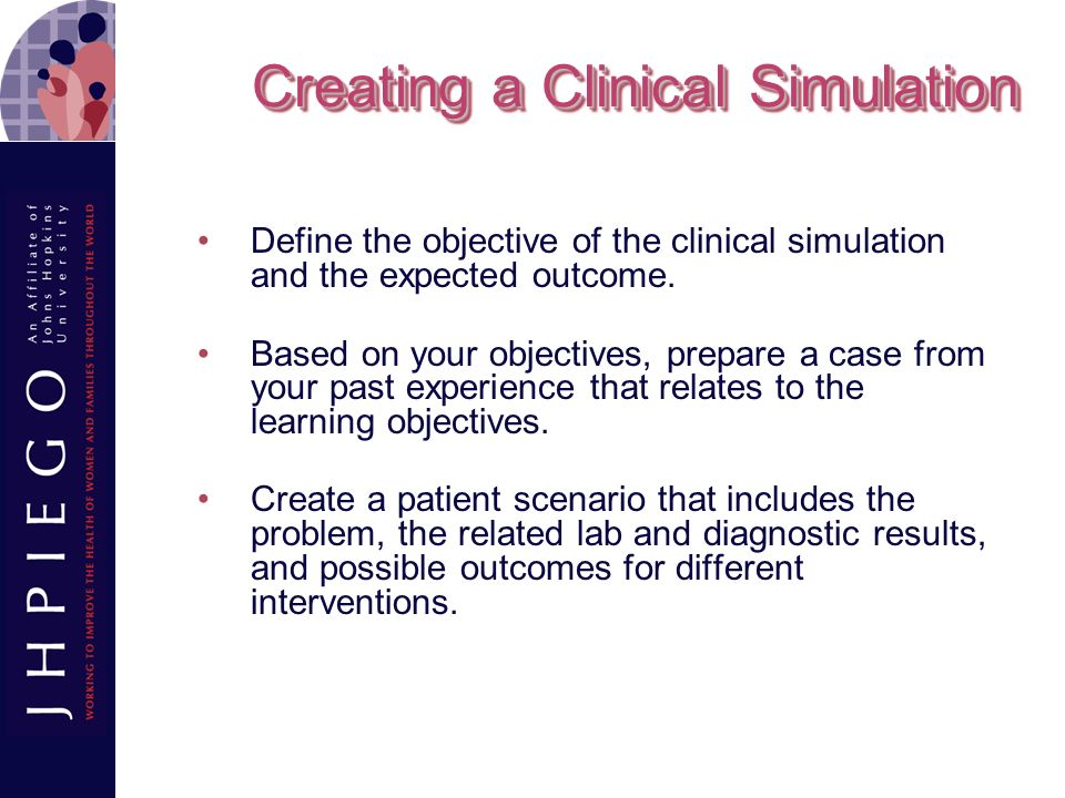 Creating a Clinical Simulation