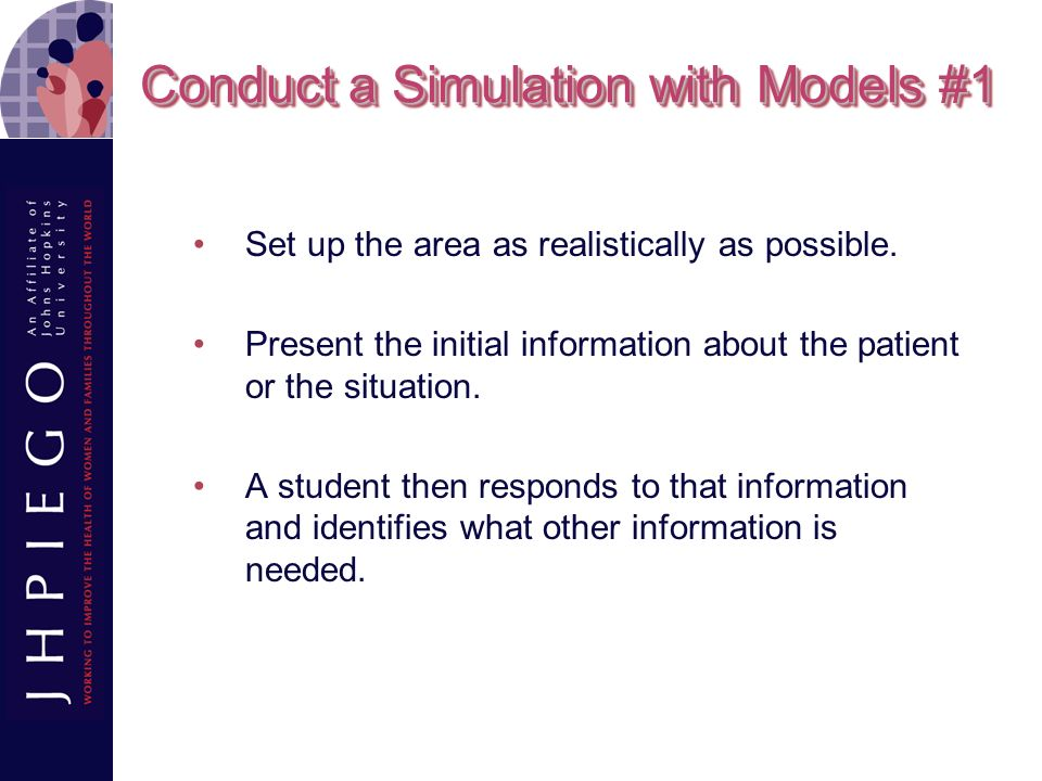Conduct a Simulation with Models #1